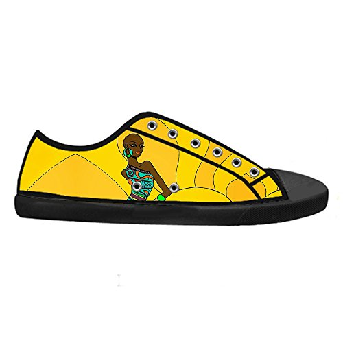 Dalliy African woman Men's Canvas shoes Schuhe Lace-up High-top Sneakers Segeltuchschuhe Leinwand-Schuh-Turnschuhe D