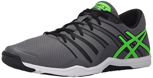 Asics Met-Conviction Synthétique Chaussure de Course Titanium/Green Gecko/Black