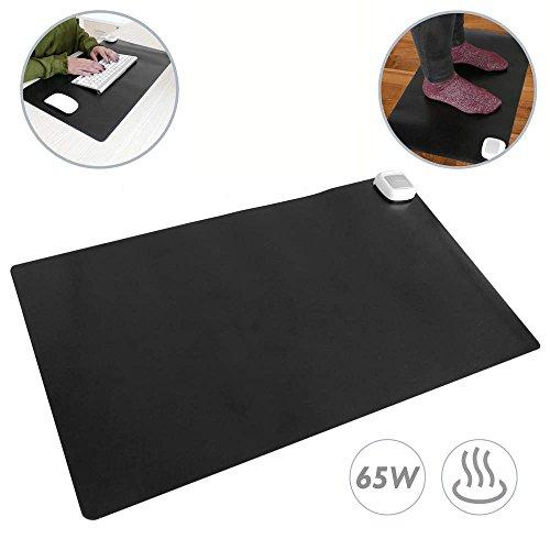 PrimeMatik - Tapis et surface chauffante moquette thermique pour bureau sol et pieds 60 x 36 cm 65W
