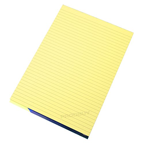 visual-memory-aid-a4-yellow-100-page-paper-notepad-refill-memo-lined-writing-pad