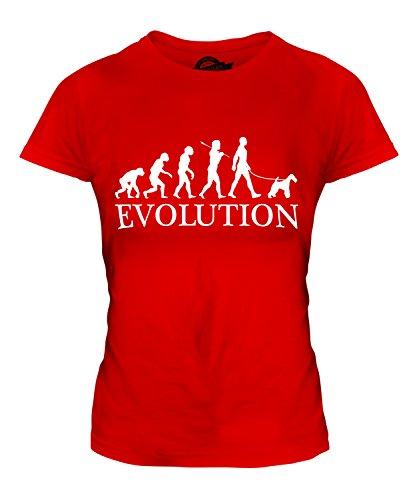 CandyMix Wire Fox Terrier Evoluzione Umana T-Shirt da Donna Maglietta Rosso