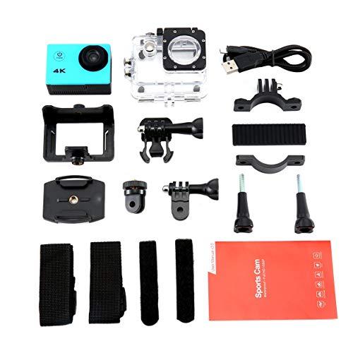 Dailyinshop SJ Camera 4K 2.0 Schermo LCD da Sub 30m Impermeabile Cam Extreme Sport DV 1080p Moto Sport all'Aria Aperta (Colore: Blu)