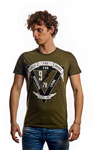 Diesel t-diego-b 51f t-shirt verde oliva