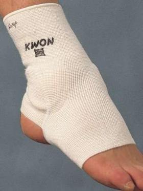 KWON® Knöchelschützer Stoff CE Knöchelschutz Kickboxschoner weiss 4051003