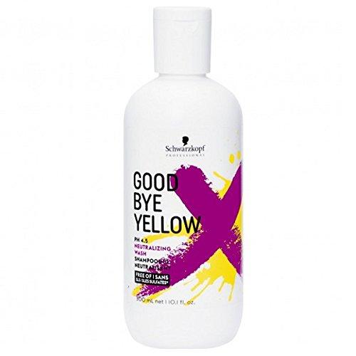 1. Schwarzkopf -Shampooing Good Bye Yellow Le Premier Shampooing Dejaunissant à Forte Concentration De Pigment 300 ml