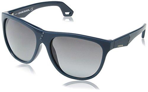Diesel - occhiali da sole dl0002 wayfarer, grigio (dark green blue frame / gradient blue)