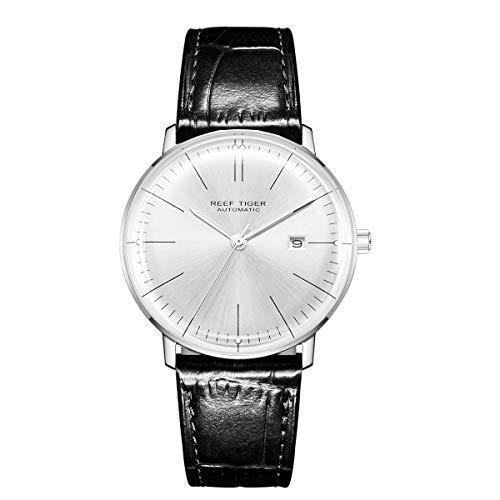 REEF TIGER Herren Uhr analog Automatik mit Leder Armband RGA8215-YWB
