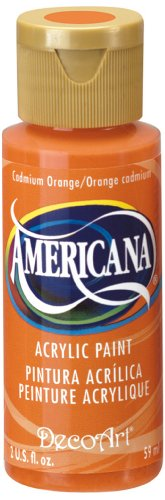 Americana vernice acrilica 2 once-cadmio arancio/trasparente