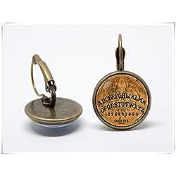 Pendientes Ouija Board pendientes Mystical mágico de bruja pendientes pendientes