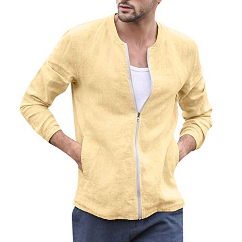 Herren Jacke, sunnymi ® Herbst Winter Baumwollmischung Reißverschluss Langarm Mantel Top Bluse Outwear -