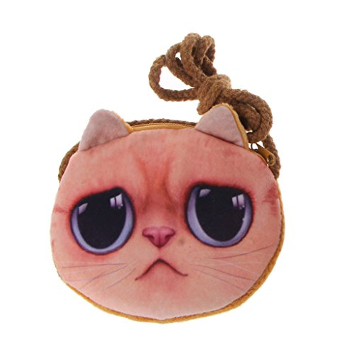 Cansenty 3D Animal Kinder Geldbörse Mädchen Mini Messenger Bag Umhängetasche Baby Münzbeutel 3
