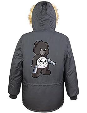 Punisher Bear Parka Girls Nero Certified Freak
