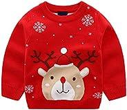 Gaga city Jersey de Reno para Niños, Ropa de Navidad, Sudaderas Navideñas de Manga Larga, Suéter Cálido para N