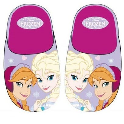 Frozen zapatilla de andar por casa de Frozen Disney color morado