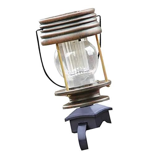 LOVIVER Vintage Retro Solar Laterne LED Garten Lanscape Decor Zaun Lichter Outdoor - Warmweiß -