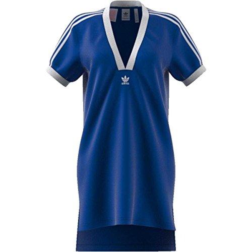Adidas maglia maglietta t-shirt fashion league v-neck donna blu ce5505-blue