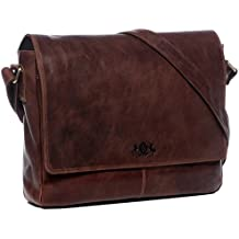 0cb2366cbddba SID   VAIN Laptoptasche Messenger Bag Leder Spencer groß Businesstasche  Herren 15 Zoll Laptop Umhängetasche echte