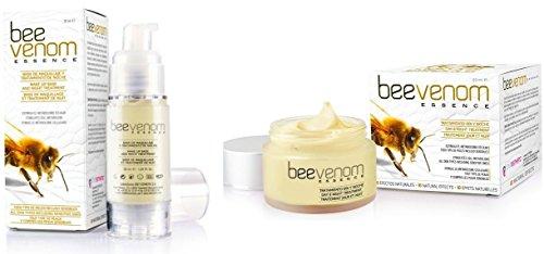De 362set Juego de 30ml de abejas Gift de Serum & 50ml Abejas de Gift de piel crema facial Crema de ácido hialurónico bio anti-age renovación Bee Venom