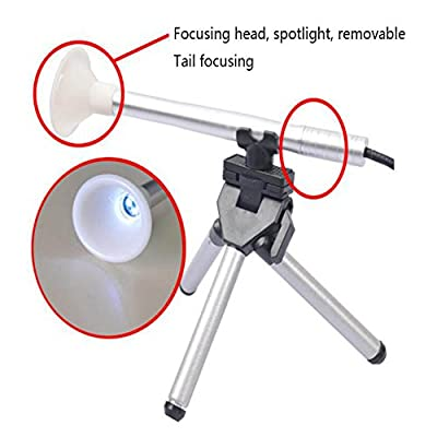 JIN-USB Microscope 200-Times Magnification Multi-Purpose Oral Inspection Adjustable Focal Mouth