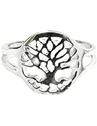 [Sponsored]925 Solid Sterling Silver Tree of Life Adjustable Toe Ring or Midi Ring - Gift Boxed