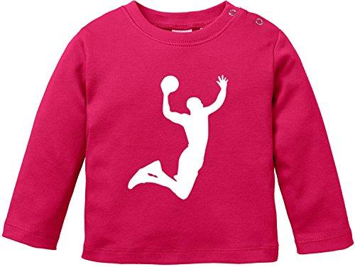 EZYshirt® Basketball | Slam Dunk Baby T-Shirt Longsleeve (Dunk Mädchen)