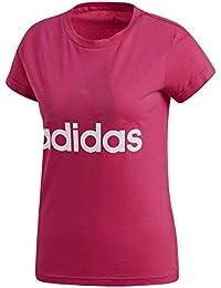detailing 98571 ac93f adidas Ess Li SLI Tee, Maglietta Donna, RosaMagenta  Bianco (Real
