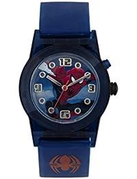 Spiderman Boy 's reloj de cuarzo con Esfera Multicolor pantalla analógica y azul correa de silicona spd3425