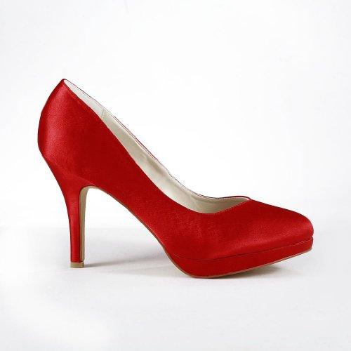 Jia Jia Wedding 37029 Scarpe Sposa Scarpe col tacco donna Rosso
