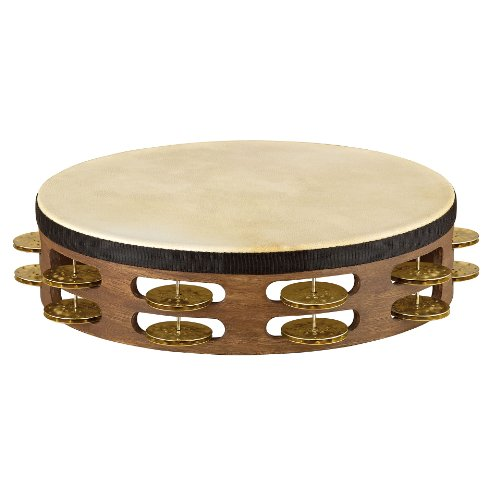 meinl-percussion-tah2v-wb-vintage-goat-skin-wood-tambourine-mit-messingschellen-2-reihig-2540-cm-10-
