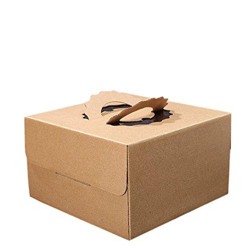 Da.Wa 5PCS/Set, Leere Gedruckte Kraftpapier Handtasche Geburtstagskuchen Box Dicker Kissen Papier Box - Geschenk-boxen Zoll 6