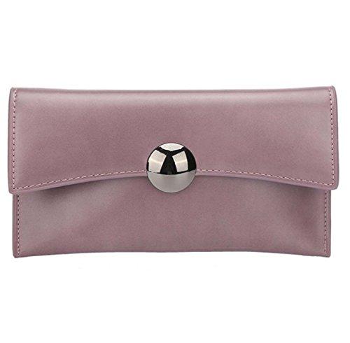 Nuove Buste Moda Fibbia Rotonda Frizione Catena Spalla Diagonale Personalità Borse Purple