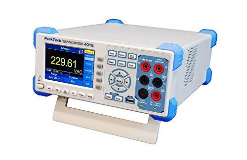 """PeakTech 4095 - 60000 Counts Grafisches True RMS (bis 100 kHz) Tisch Multimeter mit LAN- & USB-Schnittstelle, RS-232, 1 Mio. Messpkt., Digital Multimeter mit 4\"""" TFT-Farbdisplay - Max. 150 Werte/Sek."""