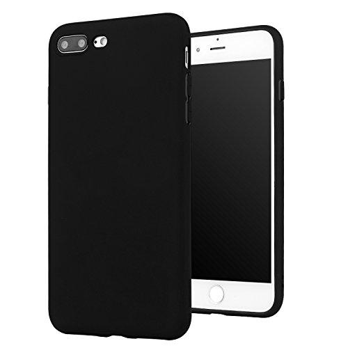 iPhone 8 Plus Hülle Liamoo® Apple Schutzhülle / Case / Cover / Vollfarbig in schwarz schwarz