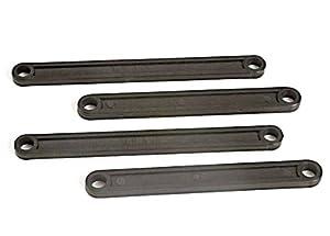 Traxxas 3641 - Juego de eslabones Delanteros y Traseros de plástico para Coche, Color Negro