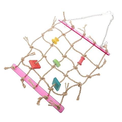 Balançoire Filet de Corde Echelle d'Escalade Jouet Perroquet Oiseau