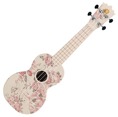 Classic Cantabile BeachBuddy Desert Rose Sopran Ukulele aus ABS Material (Uke, Hawaii Gitarre, PVC Kunststoff, 12 Bünde, 12 Bünde leichtgängige Gitarren-Mechaniken, Outdoor & Strand tauglich)