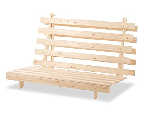 Happy Beds Metro Futon Solid Pine Wood Chair Bed 2
