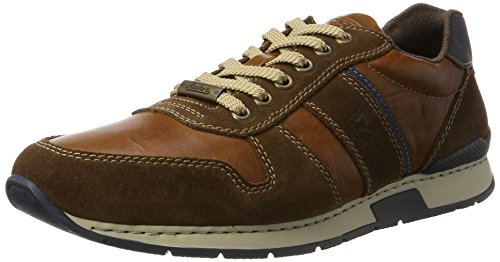 Rieker Herren 19410 Sneaker, Braun (Sattel/Tabak/Pazifik), 46 EU