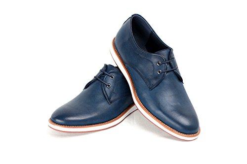 Hommes À Lacets Élégantes Décontracté Bureau Chaussures Mariage Italian Robe Travail Habillé taille UK Bleu Marine