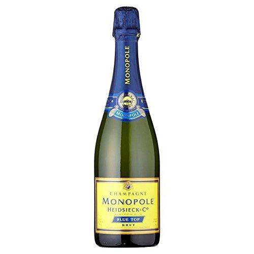 Heidsieck Monopole Blue Top Brut Champagner NV 75cl - (Packung mit 6)