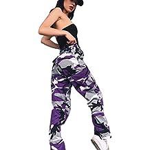 0101655b5916 ORANDESIGNE Donna Estate Camuffamento Pantaloni Sciolto Camouflage Stampa  Sportivi Tempo Libero Jeans Hip Hip Cargo Pantaloni