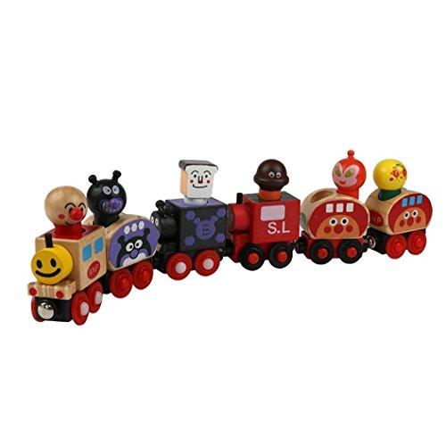 Koly Magnéticos de madera regalos animal de la historieta del rompecabezas del tren de Navidad para los niños
