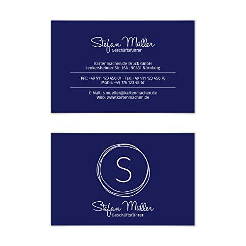 individuell Business Karten 300g/qm 85 x 55 mm - Kritzellogo (Kreis-visitenkarten)