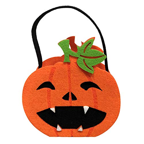 Happy Halloween Party Bag Cute Trick or Treat Candy Storage Tote Bag Cute Cartoon Sugar Tote Bag Baskets with Handle for Kids Kleinkind Jungen Mädchen kürbis approx.15 * 8cm (Cute Candy Kostüme)