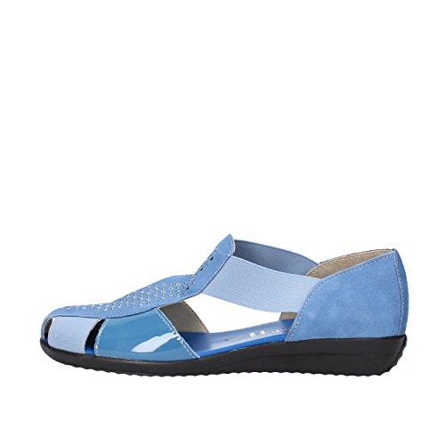 CINZIA SOFT sandali donna blu camoscio vernice tessuto (38 EU)