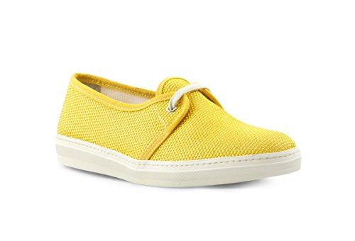 FRAU 42U1 sole scarpe donna sneakers tessuto Giallo