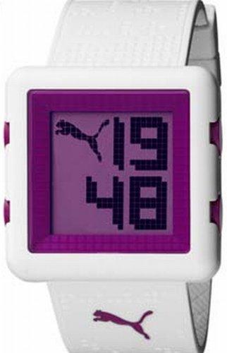 Puma Time Smash White PU910842003 - Reloj para mujeres, correa de plástico color blanco