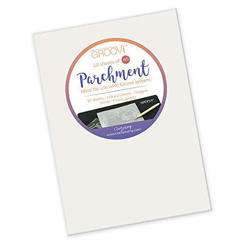 Groovi carta pergamena, formato a5, confezione da 20