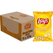 Lay's Chips Cheese Onion, Doos 15 stuks x 225 g