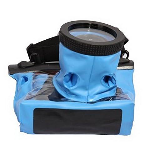 Meiwo 20m DSLR Underwater Universal Waterproof Housing Case Waterproof Camera Case Bag Designed for Outdoor / Underwater Activities, Compatible for Canon / Nikon / Fuji / Pentax / Samsung / SONY / Panasonic and Other Brands (Sky
